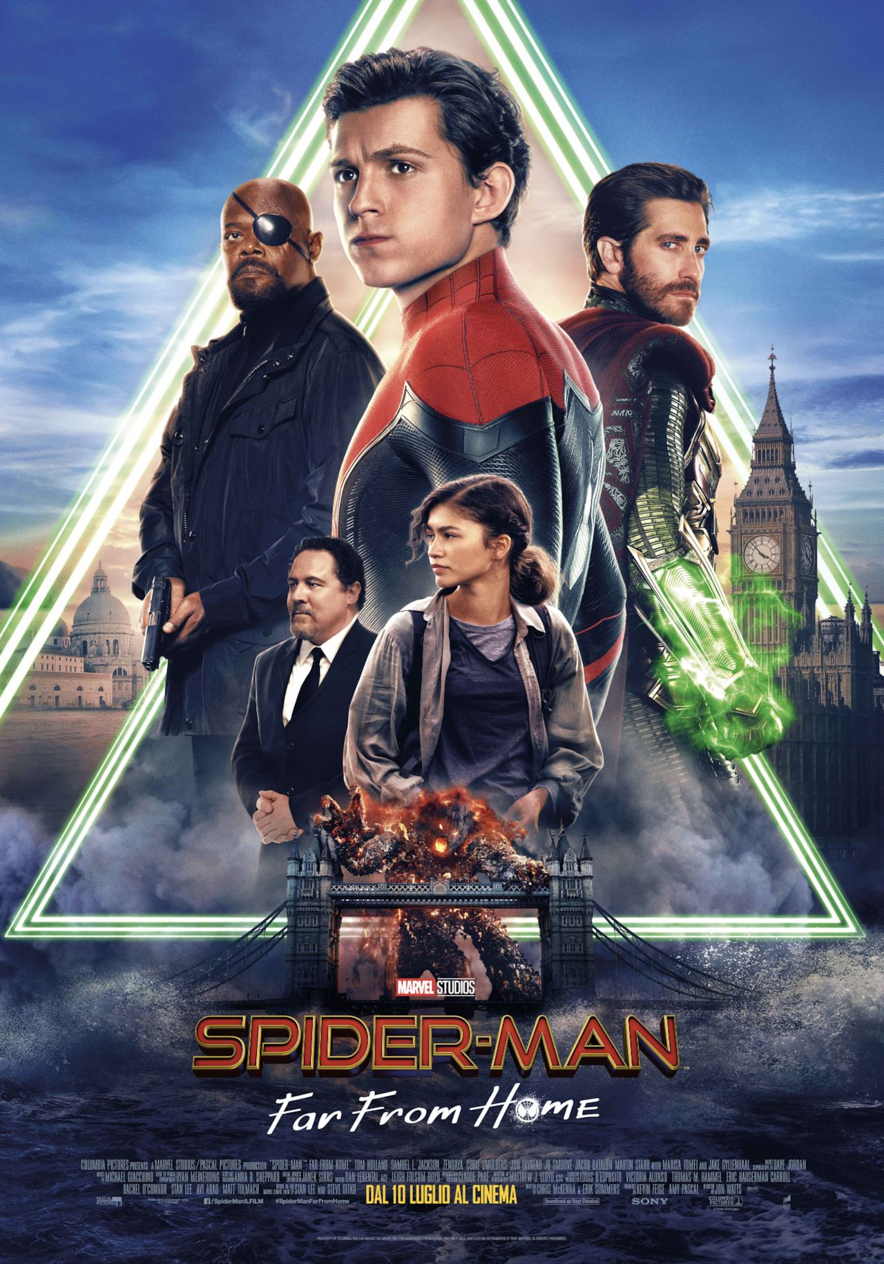 far from home spiderman locandina